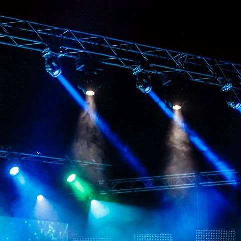 Event service provider for lighting, video and sound systems