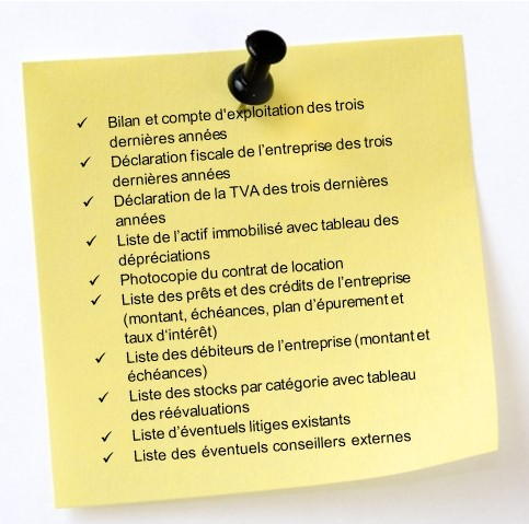Documents important pour une vente