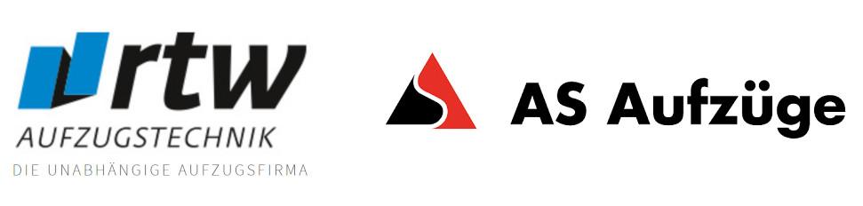 Logo rtw Aufzugstechnik und AS Aufzüge