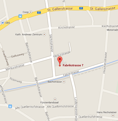 Business Broker AG - Map of Gossau St. Gallen